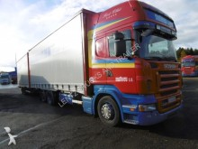 used Scania tautliner trailer truck
