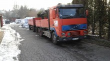 used Volvo dropside flatbed trailer truck