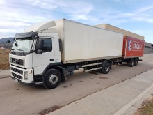 used Volvo standard box trailer truck