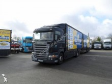 used Scania plywood box trailer truck