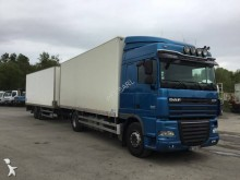 used DAF plywood box trailer truck