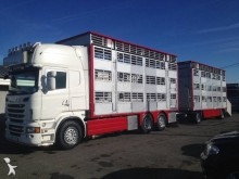 used Scania livestock trailer truck