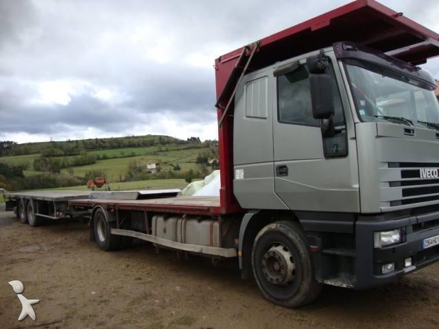 camion remorque iveco plateau porte paille eurostar 420 4x2 gazoil occasion n 253078. Black Bedroom Furniture Sets. Home Design Ideas