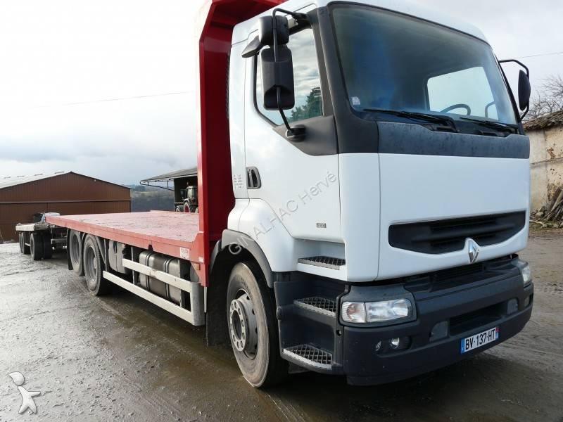 camion remorque renault plateau porte paille premium 400 6x2 gazoil occasion n 679154. Black Bedroom Furniture Sets. Home Design Ideas