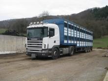 ensemble routier bétaillère bovins Scania occasion
