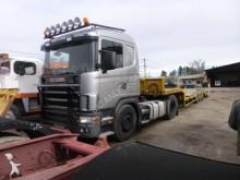 used Scania heavy equipment transport tractor-trailer