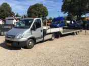 used Iveco flatbed tractor-trailer