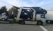 tractora semi portacoches Volvo usada
