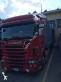 used Scania dropside flatbed tarp tractor-trailer