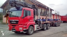 used MAN timber tractor-trailer
