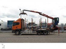 used Scania timber tractor-trailer