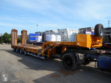 used Louault heavy equipment transport semi-trailer