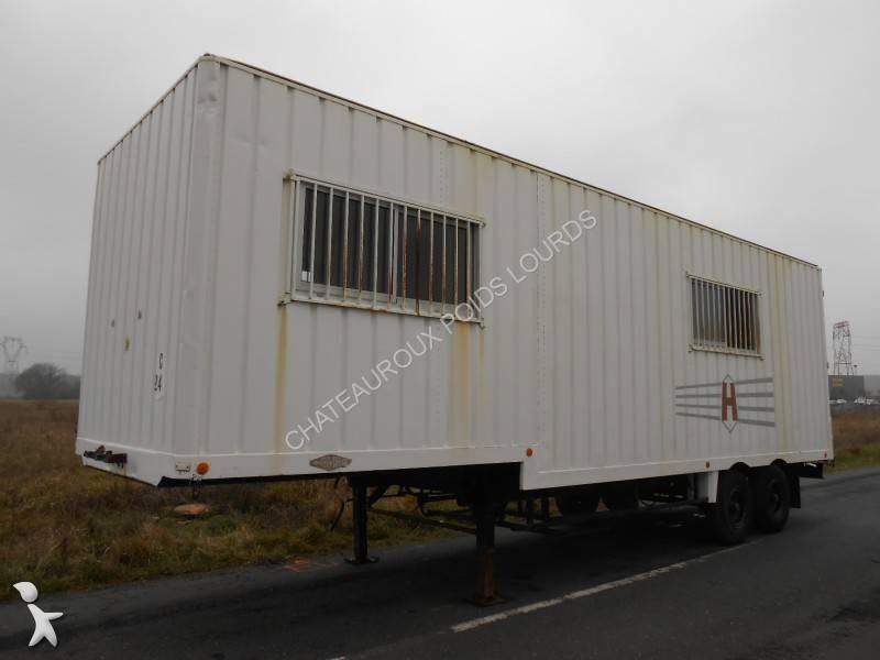 semi remorque samro fourgon mobile home bureau de chantier 2 essieux occasion n 1550876. Black Bedroom Furniture Sets. Home Design Ideas