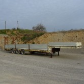 used Bertoja flatbed semi-trailer