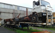 used General Trailers gas carrier flatbed semi-trailer