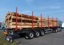 new Royen flatbed semi-trailer