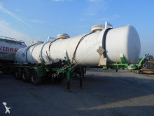 damaged chemical tanker semi-trailer