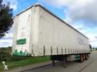 used Burg tautliner semi-trailer