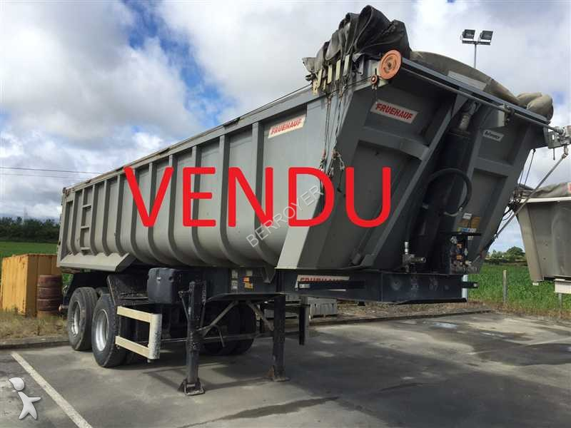 Semi remorque fruehauf benne acier 2 essieux occasion n for Porte universelle benne