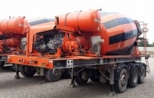 used Leciñena concrete mixer concrete semi-trailer