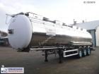 semirremolque Feldbinder Chemical tank inox 39 m3 / 3 comp