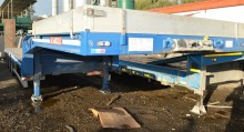 used De Angelis heavy equipment transport semi-trailer