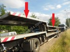 used Trailor heavy equipment transport semi-trailer