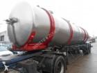 Trailor inox tank semi-trailer