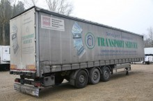 used Merker dropside flatbed tarp semi-trailer