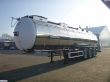 Feldbinder Food / Chemical tank inox 39 m3 / 3 comp semi-trailer