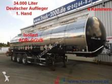 semi reboque nc GoFa*Chemie*34.000L.*V2A*ADR/ GGVS*Isoliert