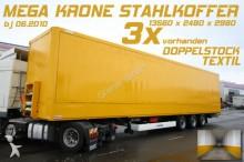 semirremolque Krone SD 27/ STAHLKOFFER /TEXTIL / DOPPELSTOCK / MEGA