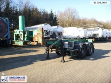 semirimorchio Fruehauf 2-axle container trailer 20 ft tipper cylinder