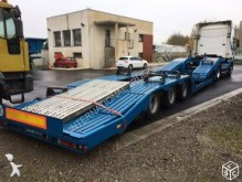 used Louault heavy equipment transport semi-trailer