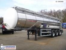 semirimorchio LAG Chemical tank inox 30 m3 / 1 comp + pump
