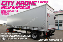 new Krone tarp semi-trailer