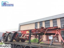 damaged Fruehauf container semi-trailer
