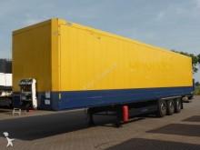damaged Krone box semi-trailer