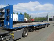 used Meusburger heavy equipment transport semi-trailer