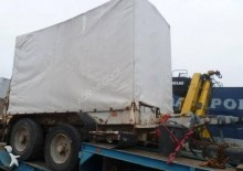 used Legras heavy equipment transport semi-trailer