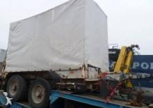 Legras heavy equipment transport semi-trailer