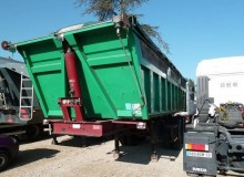 used Trouillet tipper semi-trailer