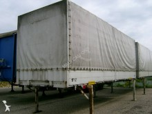used Krone dropside flatbed tarp trailer