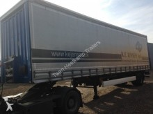 used Krone dropside flatbed tarp trailer