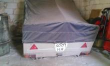used MAZ tarp trailer