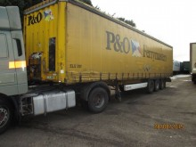 used Krone dropside flatbed trailer