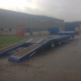 used Damoran heavy equipment transport trailer