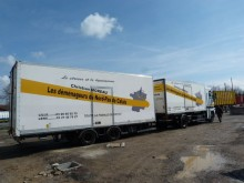 used Samro moving box trailer