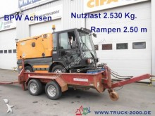 used Obermaier heavy equipment transport trailer
