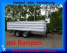 remorque Moeslein 14 t Tandem 3 Seiten Kipp Tieflader, Aufsatzbo